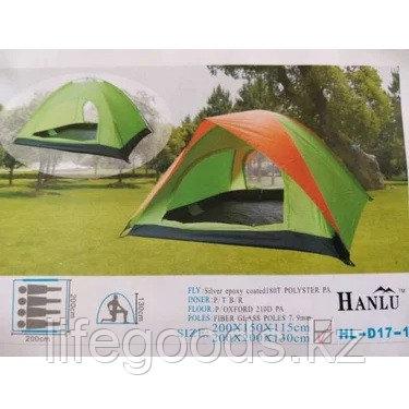 Палатка туристическая 4-х местная 200х200х130 см, Hanlu HL-D17-1