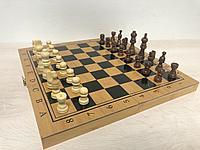 Шахматы, шашки, нарды 3 в 1 деревянный (3150)