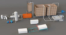 Комплект оборудования для производства пенопласта. Циклический вспениватель. Производительность 40 куб/смену.