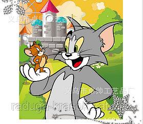 """Картинка стразами """"Том и Джерри"""""""