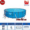Круглый каркасный бассейн, Steel Pro Frame, Bestway 56462, размер 549х122 см