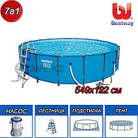 Круглый каркасный бассейн, Steel Pro Frame, Bestway 56462, размер 549х122 см, фото 1