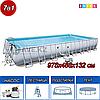 Прямоугольный каркасный бассейн,  Power Steel Frame, Bestway 56623, размер 956х488х132 см
