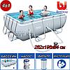 Прямоугольный каркасный бассейн, Power Steel Frame Pool, Bestway 56629, размер 282х196х84 см