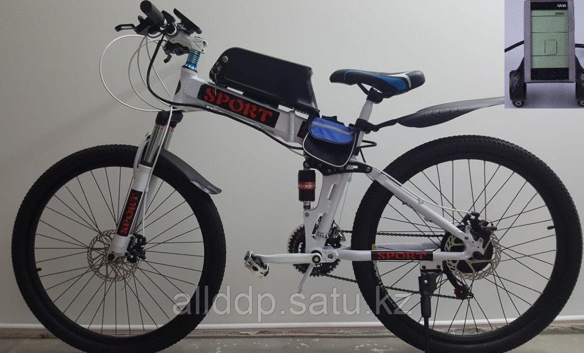 Электровелосипед  складной, двухподвес 36v 350w.