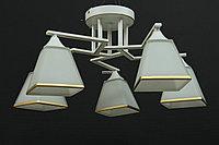 Люстра  пятиламповая в стиле геометрического минимализма