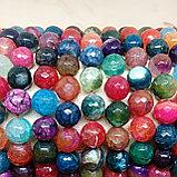 Агат разноцветный граненый, 12мм, фото 3