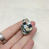Кольцо с говлитом, 23х10мм, фото 4