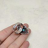 Кольцо с говлитом, 30х18мм, фото 5