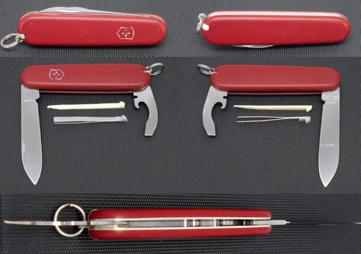 Нож складной офицерский Victorinox Bantam, Функционал: Туризм, Кол-во функций: 8 в 1, Цвет: Красный, (0.2303)