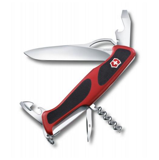 Нож складной карманный Victorinox Rangergrip, Функционал: Туризм, Кол-во функций: 11 в 1, Цвет: Красно-чёрный,