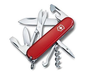Нож складной офицерский Victorinox Climber, Функционал: Альпинистский, Кол-во функций: 14 в 1, Цвет: Красный,