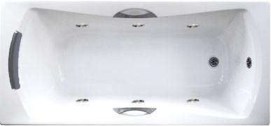 Акриловая ванна с гидромассажем. Джакузи. Агора 170*75 СМ. (Общий массаж)