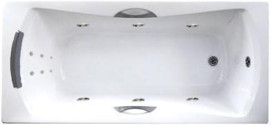 Акриловая ванна с гидромассажем. Джакузи.Агора 170*75 СМ. Лайт. (Общий массаж +  спина )