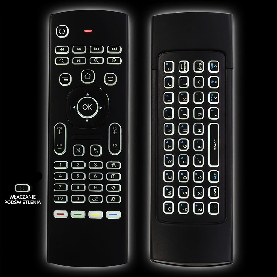 Беспроводной пульт MX3 PRO Fly Air Mouse с клавиатурой и подсветкой