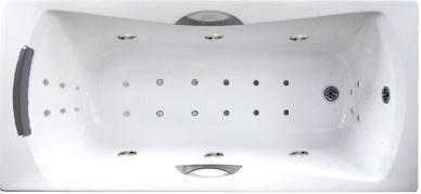 Акриловая ванна с гидромассажем. Джакузи.Агора 170*75 СМ. Интенс. (Общий массаж +  спина + ноги + дно ), фото 2
