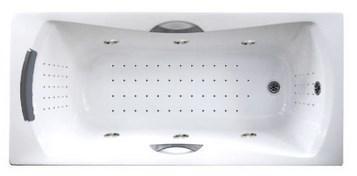 Акриловая ванна с гидромассажем. Джакузи.Агора 170*75 СМ. Nano. (Общий массаж +  спина + ноги + дно ), фото 2