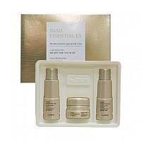 Антивозрастной набор улиточный the saem snail essential ex wrinkle solution skin Care 3 set