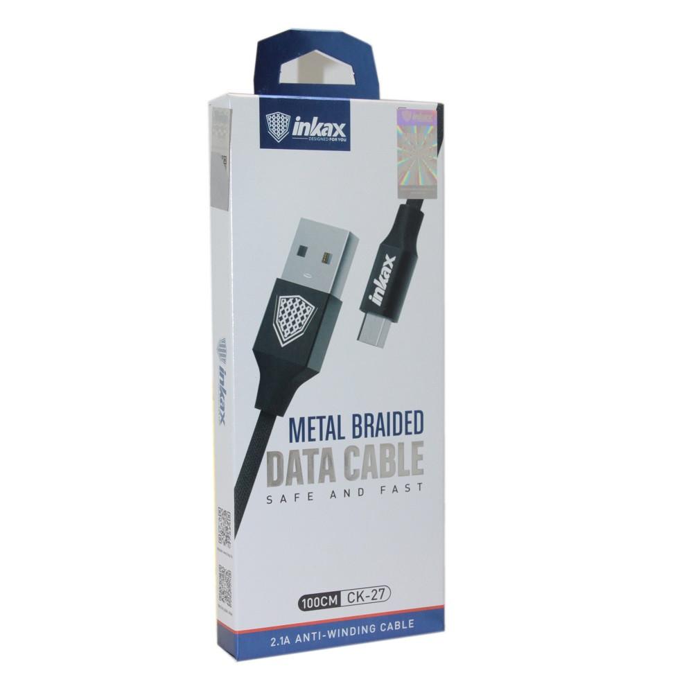 Кабель INKAX CK-27 Black Micro USB