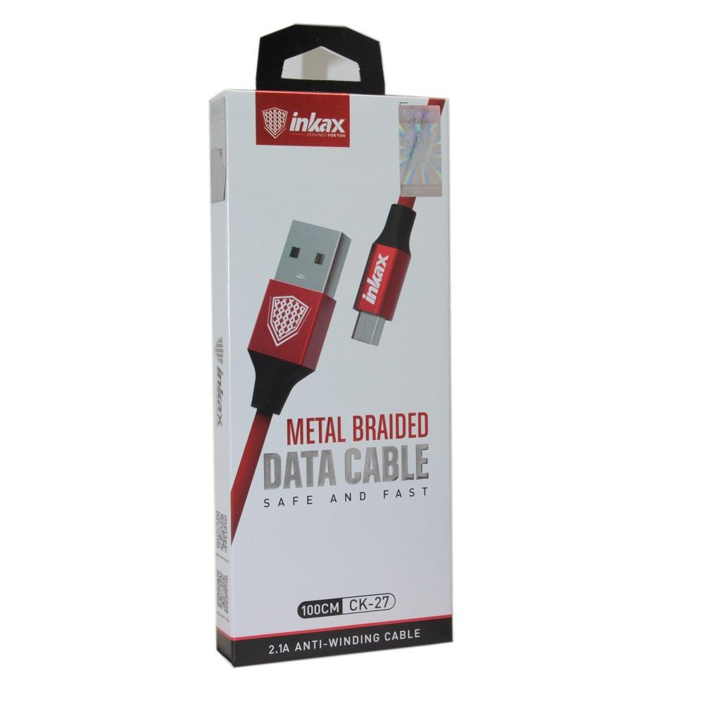 Кабель INKAX CK-27 Red Micro USB
