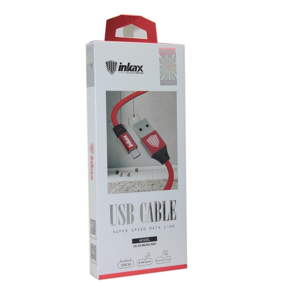 Кабель INKAX CK-52 Red Micro USB
