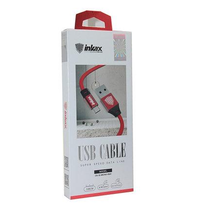 Кабель INKAX CK-52 Red Micro USB, фото 2