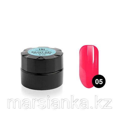 Гель-краска для стемпинга TNL #05 (неоновая розовая), 6мл , фото 2
