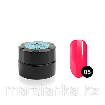 Гель-краска для стемпинга TNL #05 (неоновая розовая), 6мл