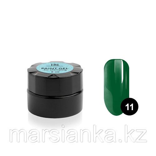 Гель-краска для стемпинга TNL #11 (зеленая), 6мл