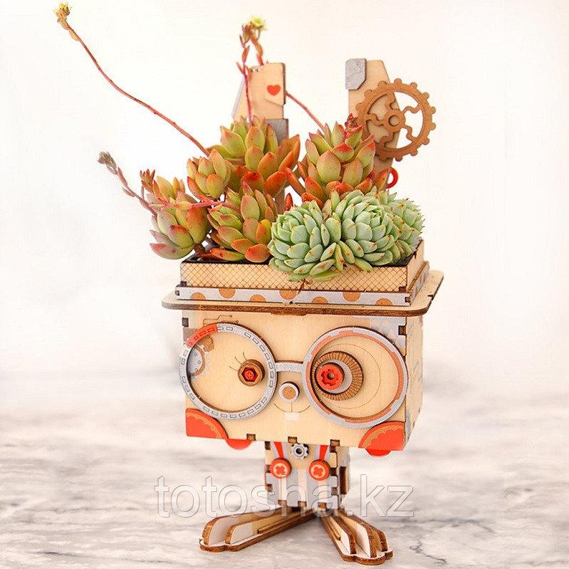 """Деревянный цветочный горшок Robotime """" Pot Bunny Горшок Банни """""""
