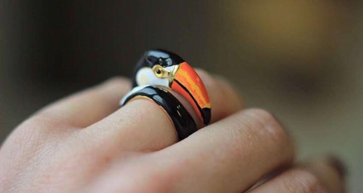 Эксклюзивное кольцо Тукан