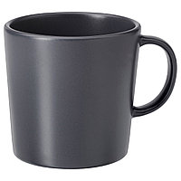 Кружка ДИНЕРА темно-серый  ИКЕА IKEA, фото 1