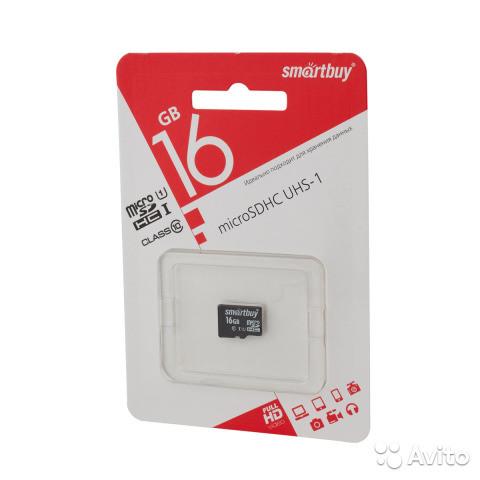 Карта памяти Smartbuy microSDHC 16GB Class 10 без адаптера