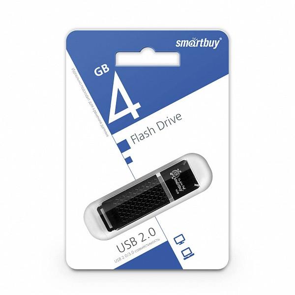 Диск накопительный USB Smartbuy  4GB Quartz Black