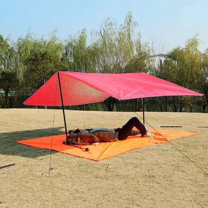 Коврик-тент-навес 3 в 1 для пляжа и пикника Magic Mat (Красный), фото 2