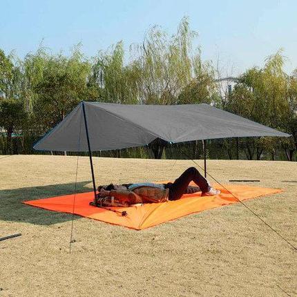Коврик-тент-навес 3 в 1 для пляжа и пикника Magic Mat (Темно-серый), фото 2