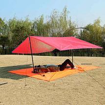 Коврик-тент-навес 3 в 1 для пляжа и пикника Magic Mat (Темно-серый), фото 3