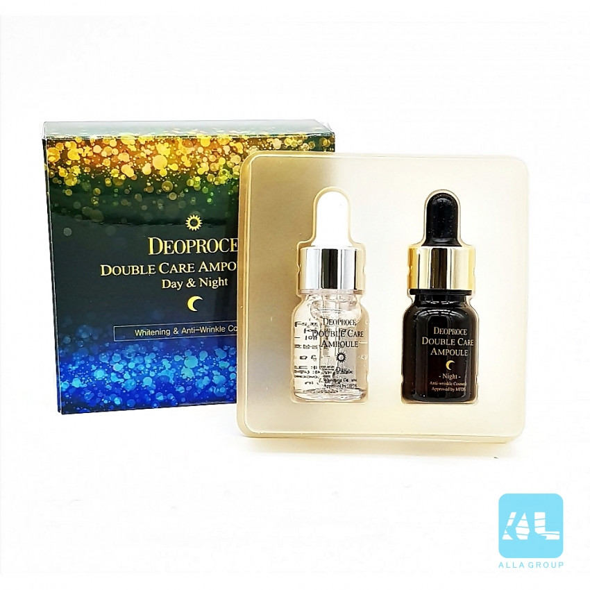 Сыворотка для лица антивозрастная, набор - Deoproce Double Care Ampoule Set (Day & Night)