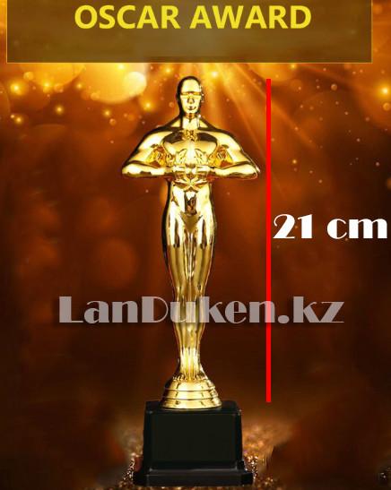 Фигура сувенирная Оскар с квадратной подставкой большая (21 см) с возможностью гравировки