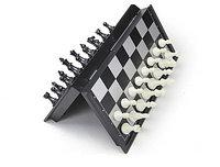 Шахматы, шашки и нарды дорожный набор пластиковый магнитный (3 в 1), размер игрового поля 24*24 см.