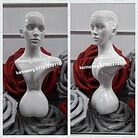 Манекен голова высокая глянцевая женская
