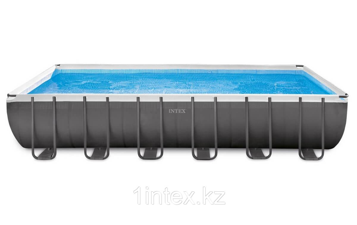 Каркасный бассейн Rectangular Ultra Frame 7,32х3,66х1,32м Intex+песч.фильтр 7900 л/ч