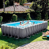 Каркасный бассейн Rectangular Ultra Frame 7,32х3,66х1,32м Intex+песч.фильтр 7900 л/ч, фото 3