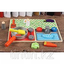 Детская кухня-вкладыш, с продуктами, 30 х 22,4 см, фото 2