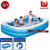 Детский прямоугольный надувной бассейн, Лагуна, Bestway 54006, размер 262 x 175 x 51 см.