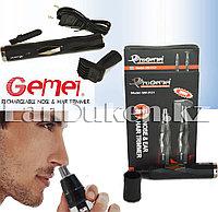 Электро бритва триммер 2 в 1 Progemei GM-3121 (2 насадки, работает от аккумулятора и сети)