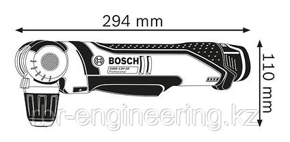 Аккумуляторная угловая дрель-шуруповерт BOSCH GWB 12V-10 0601390908, фото 3