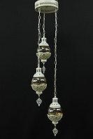 Подвесная люстра в восточном стиле на 3 лампы., фото 1