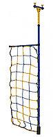 Дополнительная стойка к распорному ДСК с сеткой для лазания синий-желтый