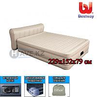 Двухспальная надувная кровать - матрас Bestway 69019, размер 229х152х79 см, со встроенным насосом, фото 1